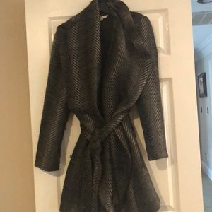 Beautiful grey wool wrap coat